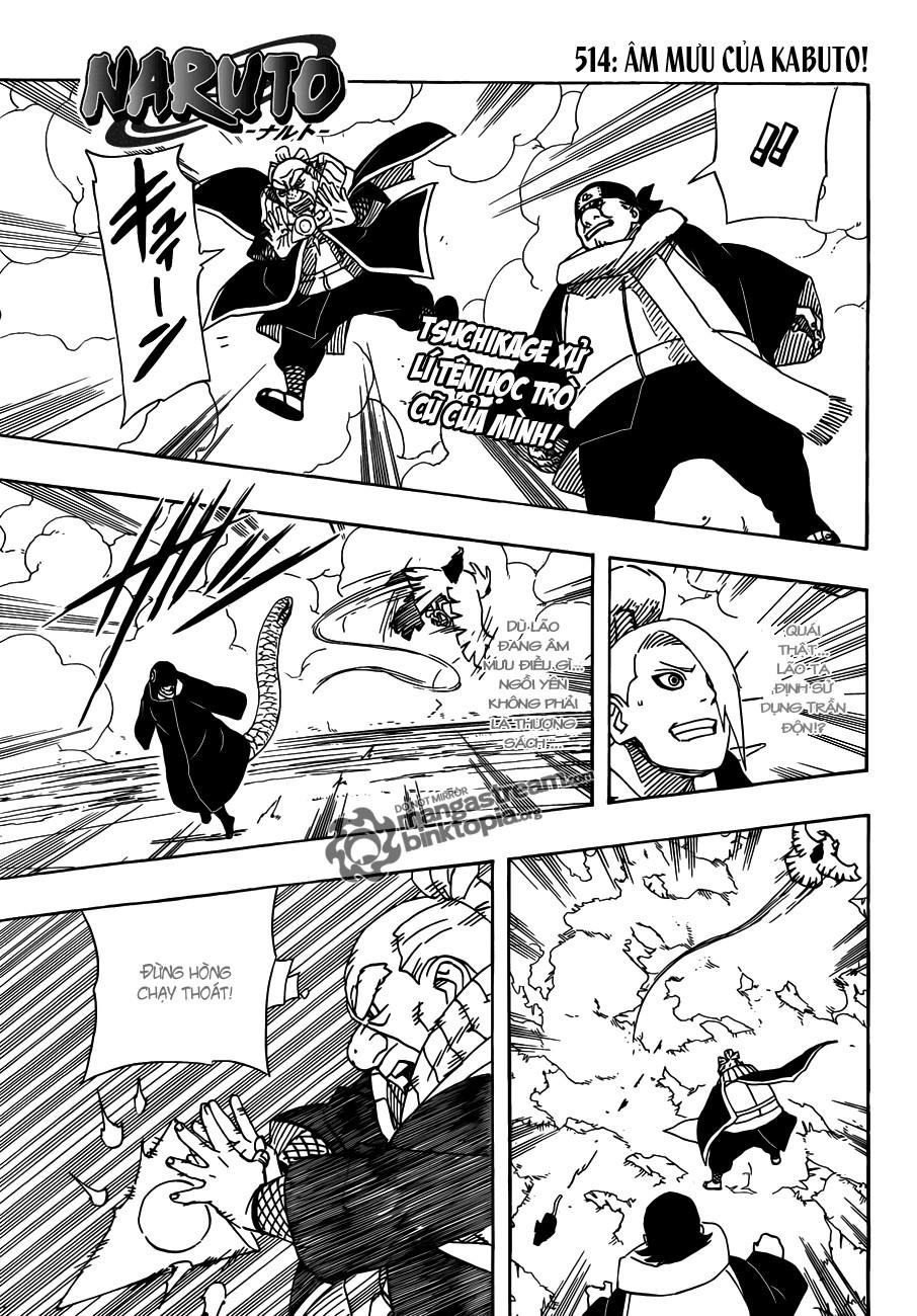 Naruto chap 514 Trang 1 - Mangak.info