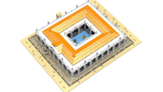 Layout of a roman bath house