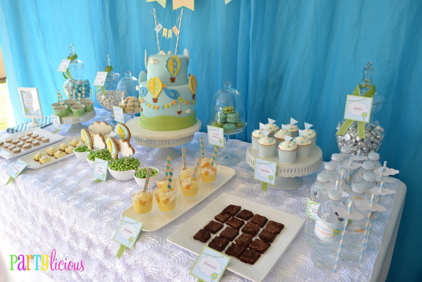 Baby Shower Boy Themes ~ Partylicious events pr: {up up and away baby shower}