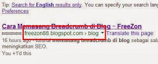 cara memasang breadcrum pada blog SEO