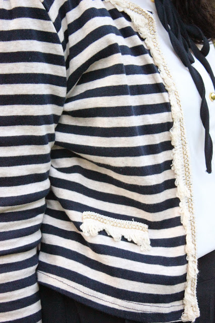 Nautical Navy Striped Cardigan