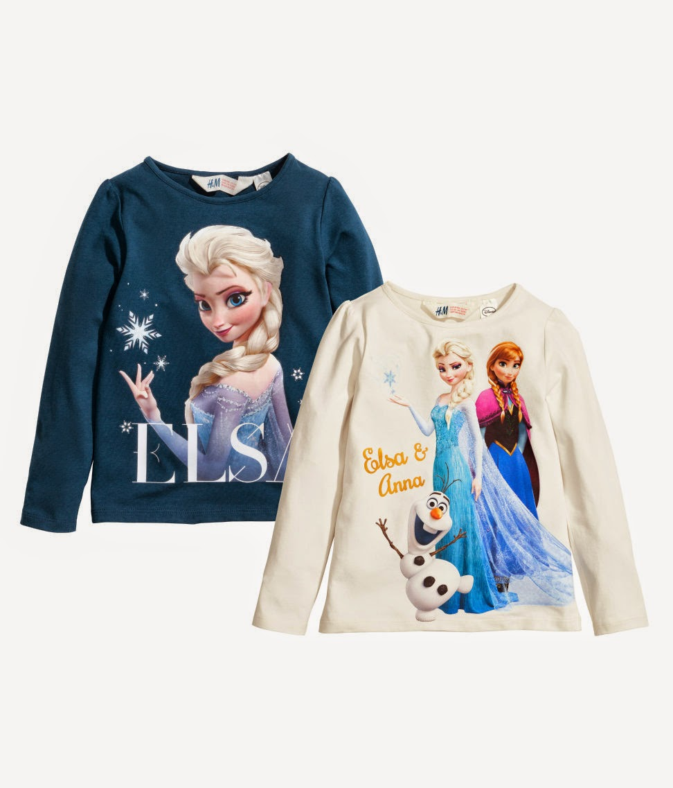 Frozen shirts at H&M