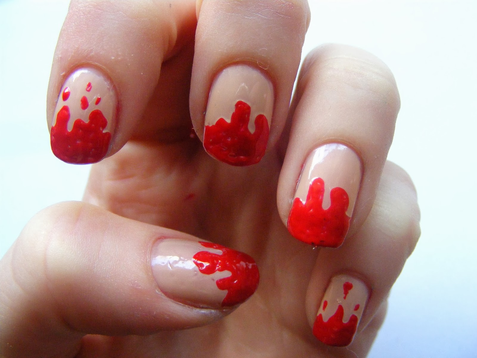 Halloween Nails Dripping Blood Nail Art Tutorial Oh Hey There Rachel