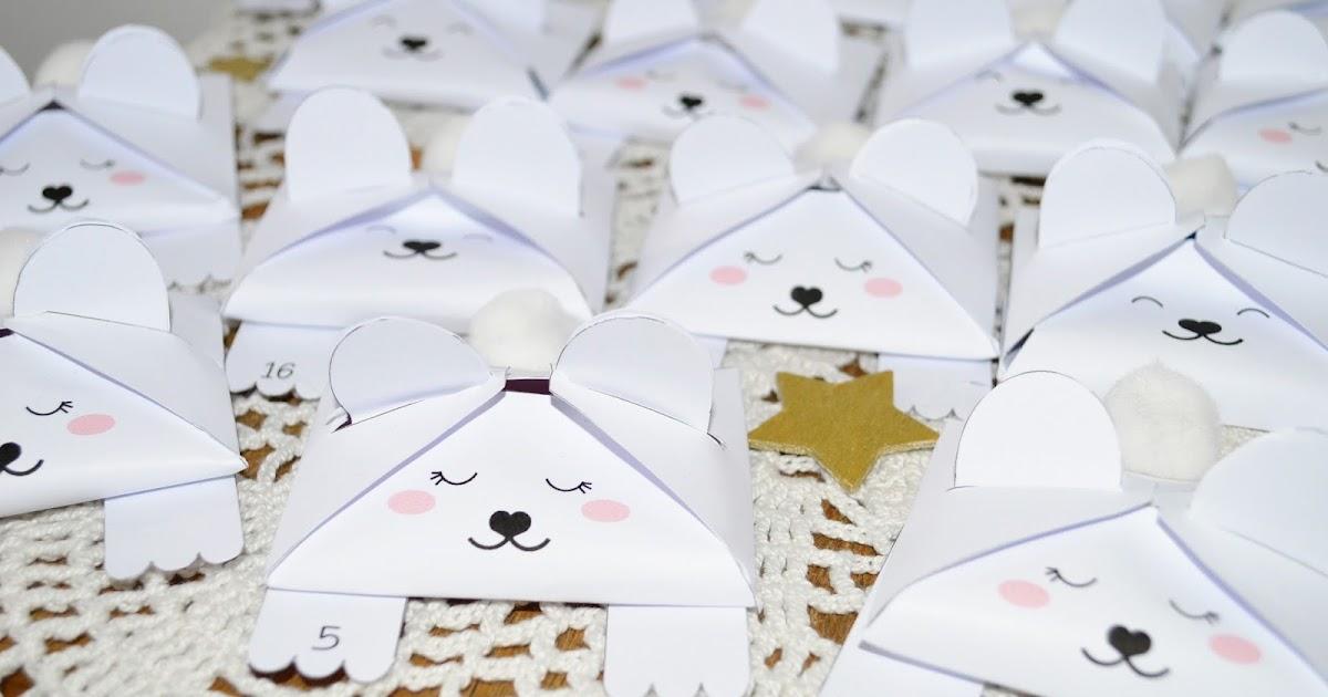 Gabulle in wonderland calendrier de l 39 avent ours blancs - Comment faire un calendrier de l avent facile ...