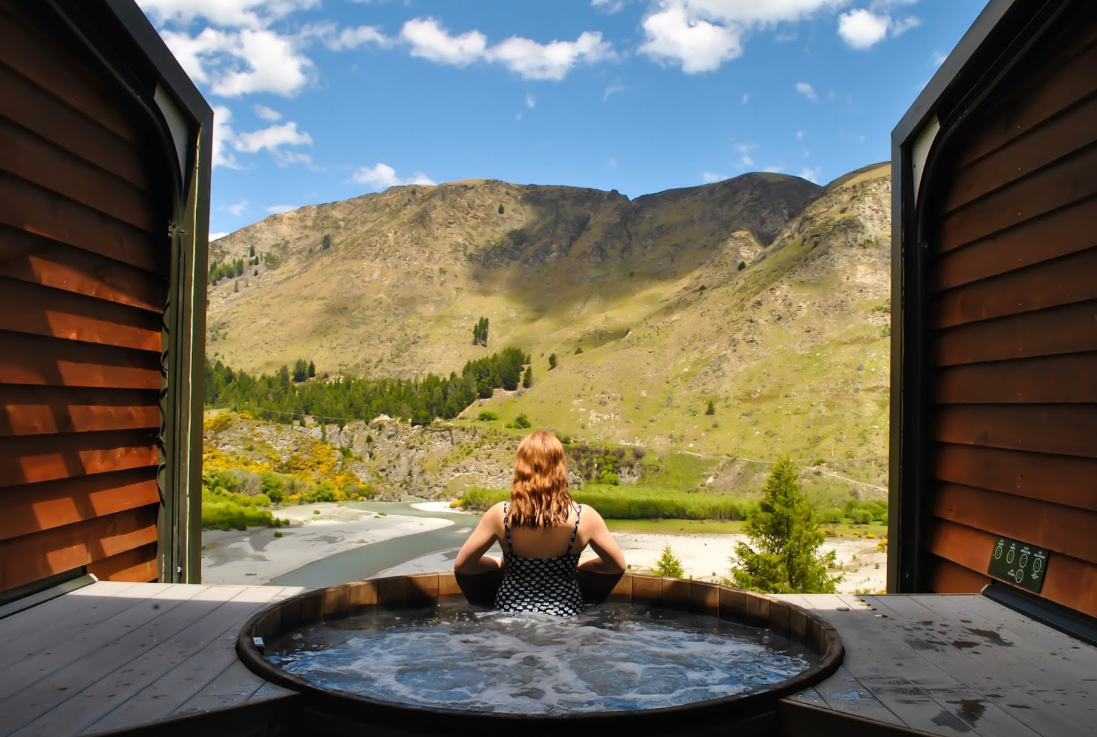 Things to do in Queenstown New Zealand : Shotover Canyon Onsen Hot Pools