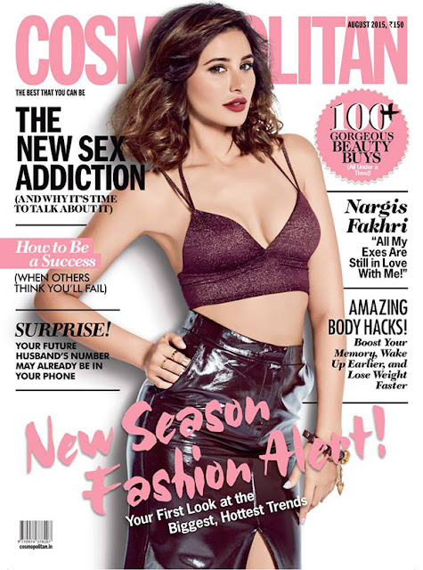 Actress, Model @ Nargis Fakhri - Cosmopolitan India, August 2015