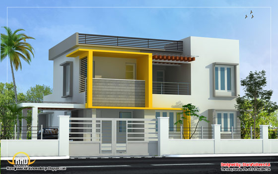 Modern Home design - 2643 Sq. Ft.(246 Sq. Ft.) (294 Square Yards) - March 2012