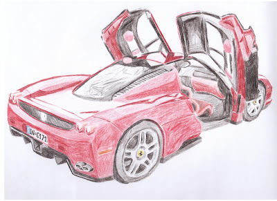draw ferrari enzo colors