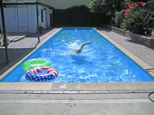 New House Girl Pool Before And After