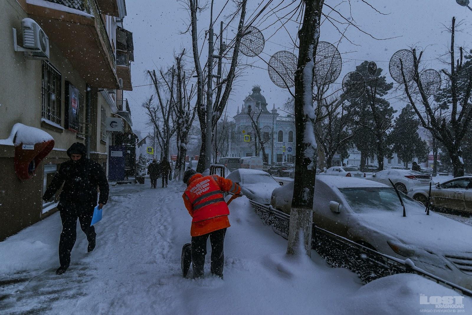 Очистка улиц от снега