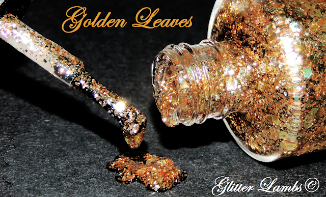 "Glitter Lambs ""Golden Leaves"" Glitter Nail Polish"