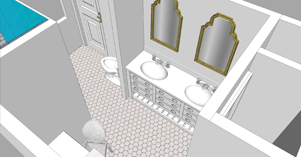 Sarah M Dorsey Designs Master Bath Plans My Design Thought Process