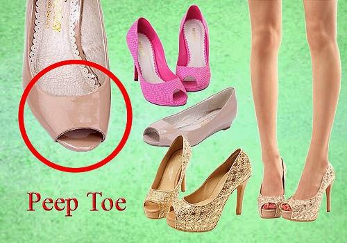 Bagian Depan Sepatu Wanita, Peep Toe