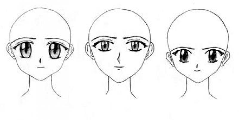 dibujar pelo tipo manga: