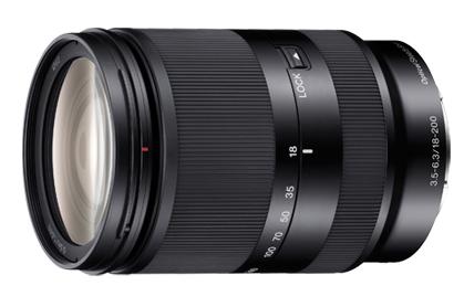 sony nex 18-200 sel18200le lens black