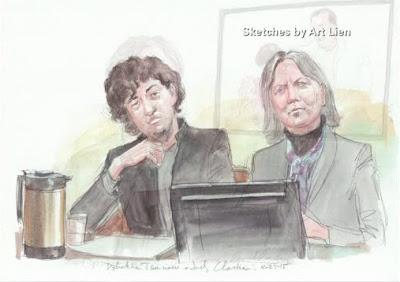 Dzhokhar Tsarnaev and Judy Clarke