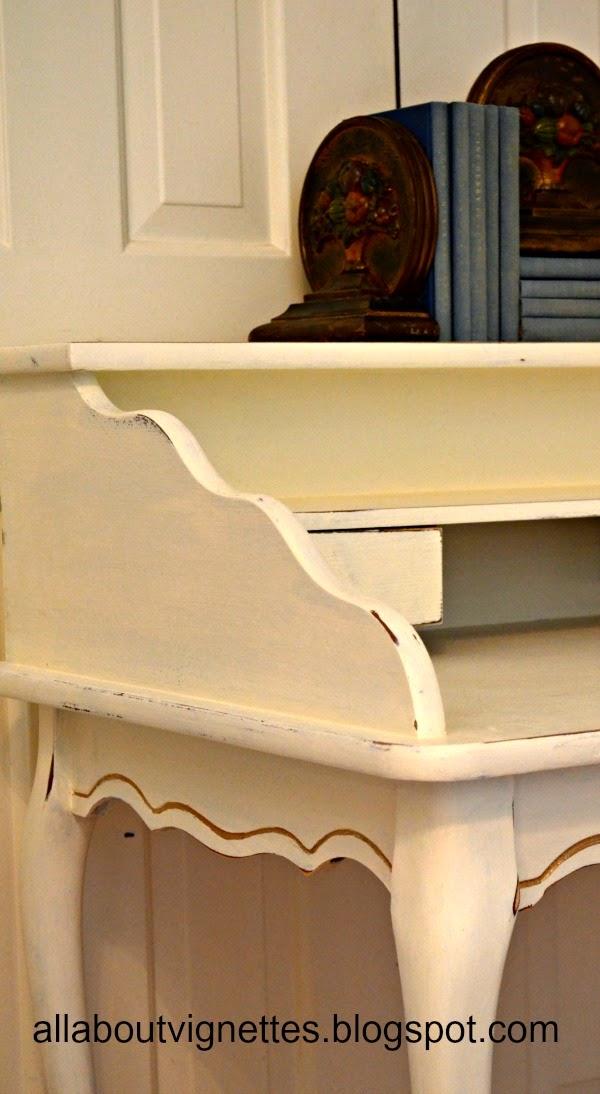 all about vignettes updating a ballard design writing desk scroll table desk furniture ballard from ballard designs