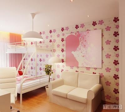 dormitorio rosa para dos niñas