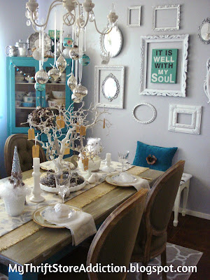 Blessing tree winter whimsy tablescape
