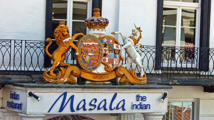 Indian restaurant, Royal Tunbridge Wells, coat of arms
