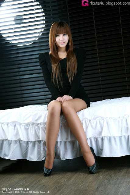 2 Ryu Ji Hye in Black-very cute asian girl-girlcute4u.blogspot.com