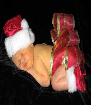 Photos des bébés dans le fête de Noël