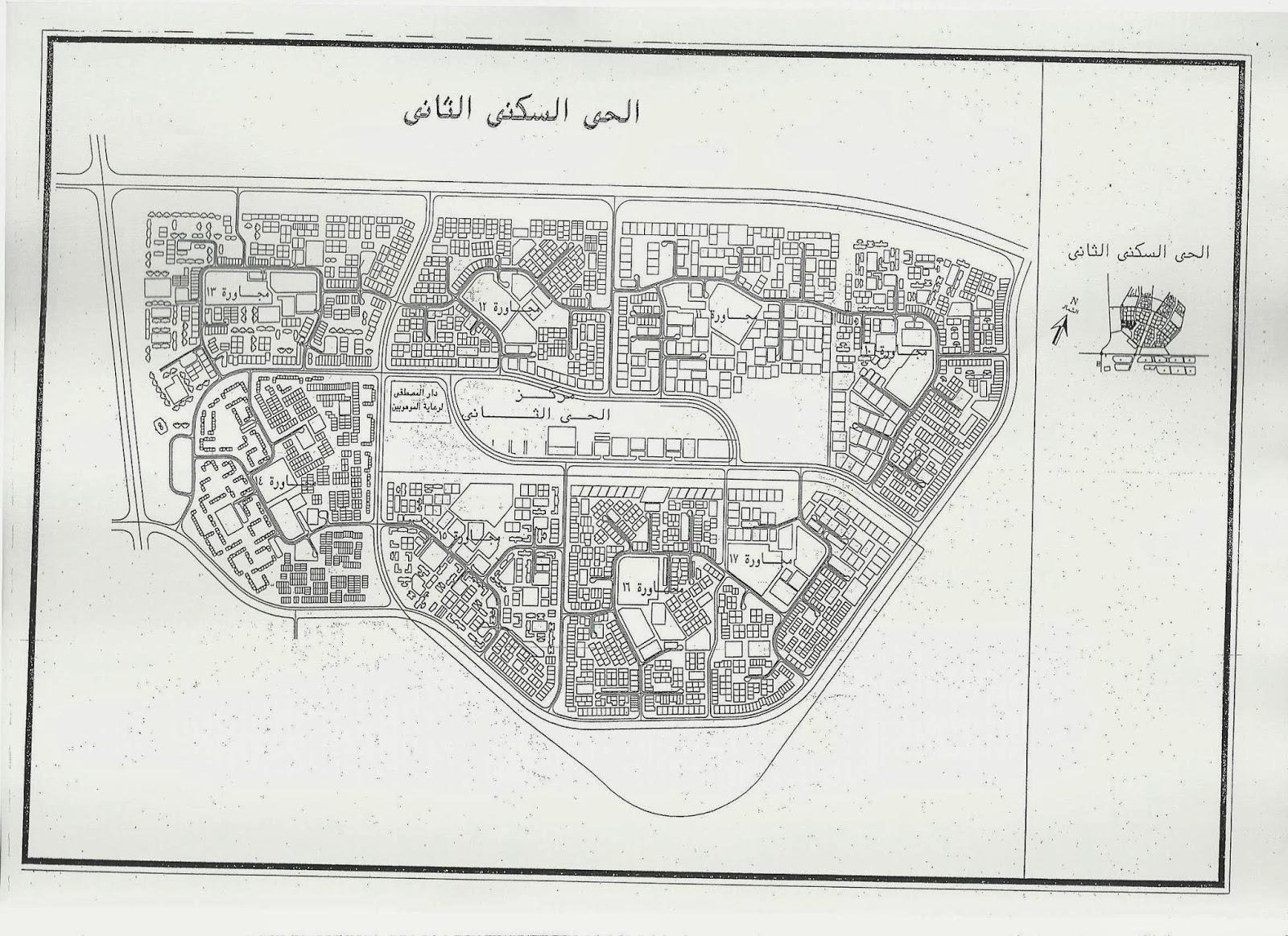 خريطة الحي السكني الثاني بالعاشر من رمضان