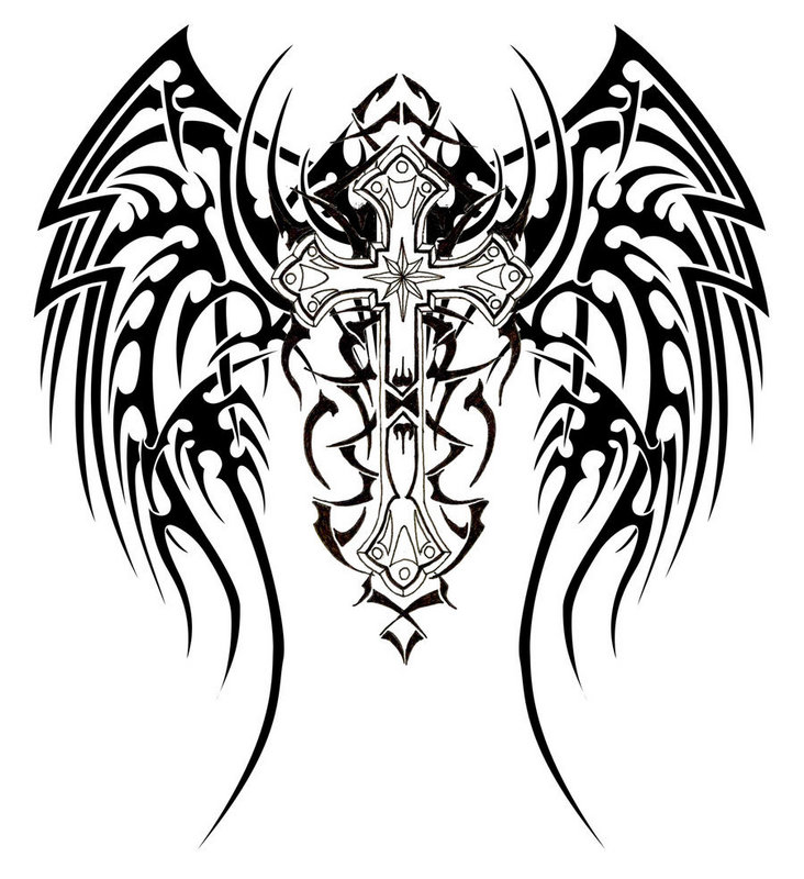 Tribal Back Tattoos Designs
