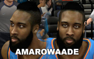 NBA 2K13 Mods - OKC James Harden Cyberface Mod