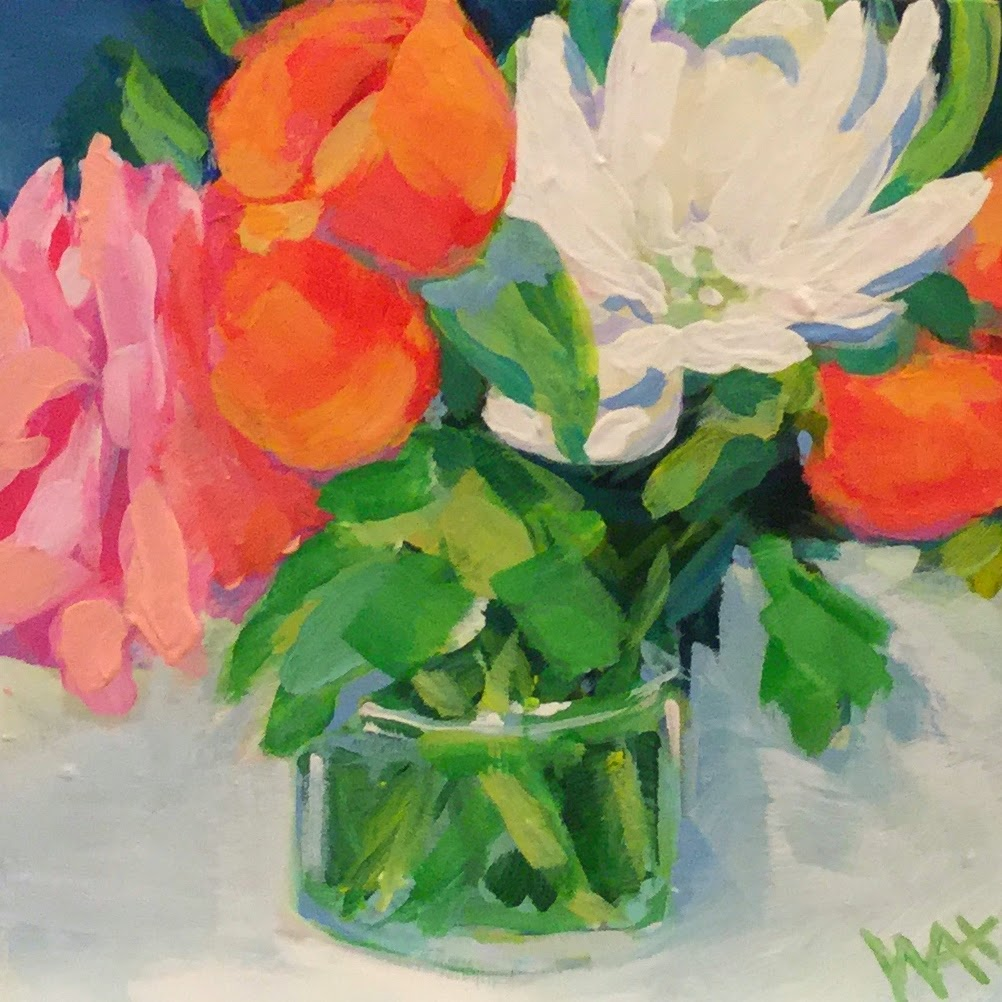 Flower bouquet painting by artist, Whitney Heavey