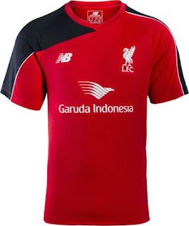 gambar photo Jersey training Liverpool warna merah terbaru musim 2015/2016