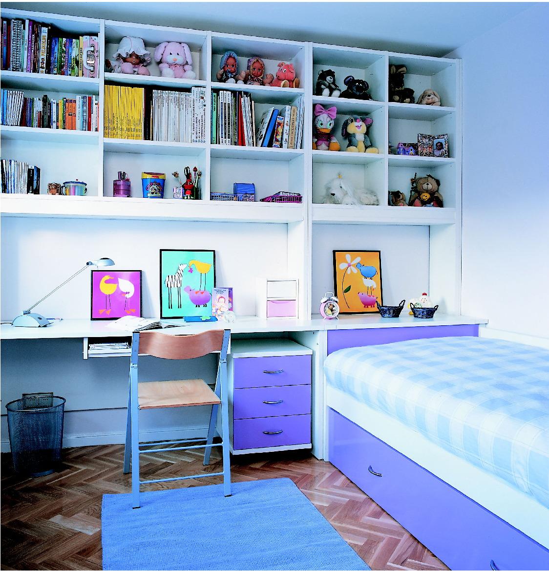 Balda especialistas en decoraci n y mobiliario a medida dormitorio juvenil - Habitacion juvenil blanca ...