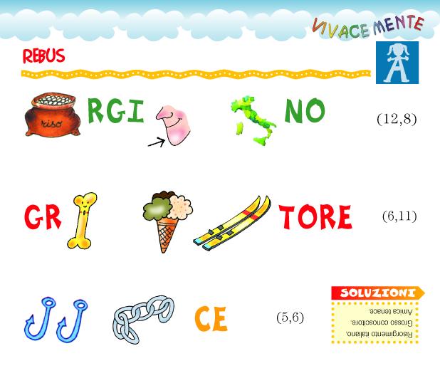 Favoloso giochi linguistici per bambini scuola primaria da for Rebus facili da stampare