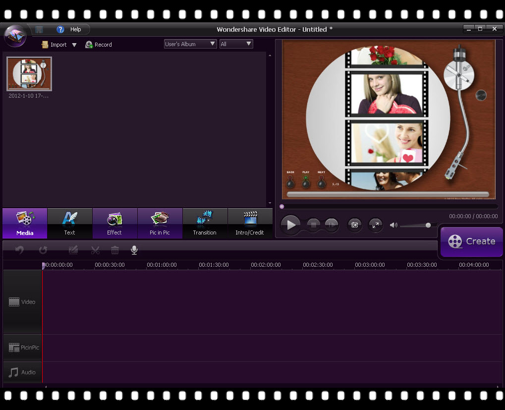 how to add a picture on a video on wondershare