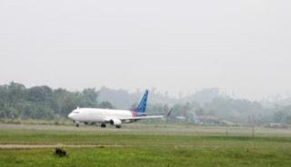 Kabut asap melanda kawasan pelabuhan belawan Sumatra utara hingga Minggu sore