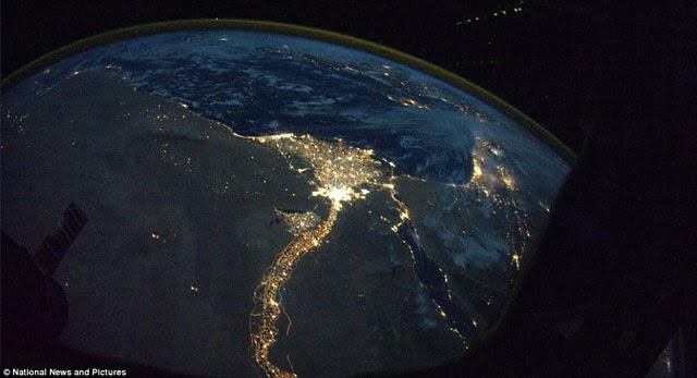 fotografías impresionantes, espacio, río nilo, África