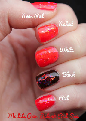 Models Own Red Sea Splash Swatch