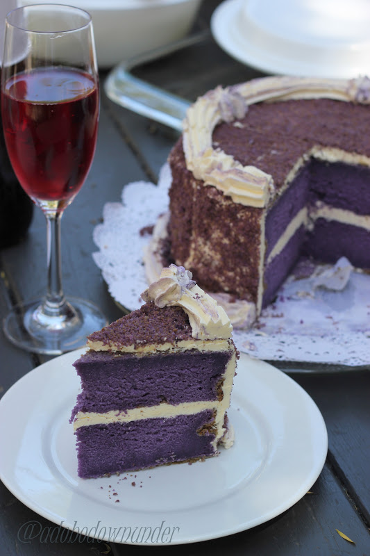 Adobo Down Under Purple Yam Filipino Ube Cake For The November Sabh