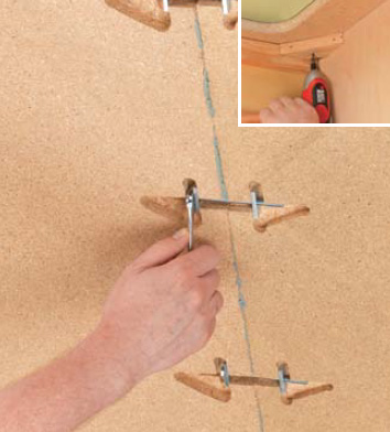 Countertop Miter Bolts : the mitered countertop sections force the countertop pieces tightly ...