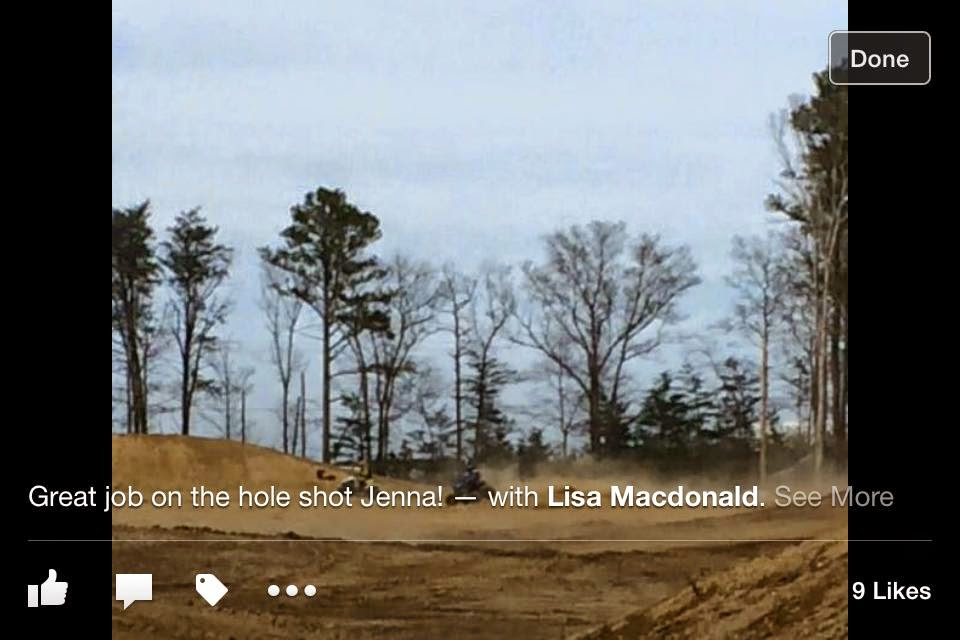 Jenna MacDonald pulling holeshot on DRR 90, Millville, NJ, D34 race, 4/19/15. 90 quad class. 2nd place overall finish.#DRRracing #DRRUSA #DRR