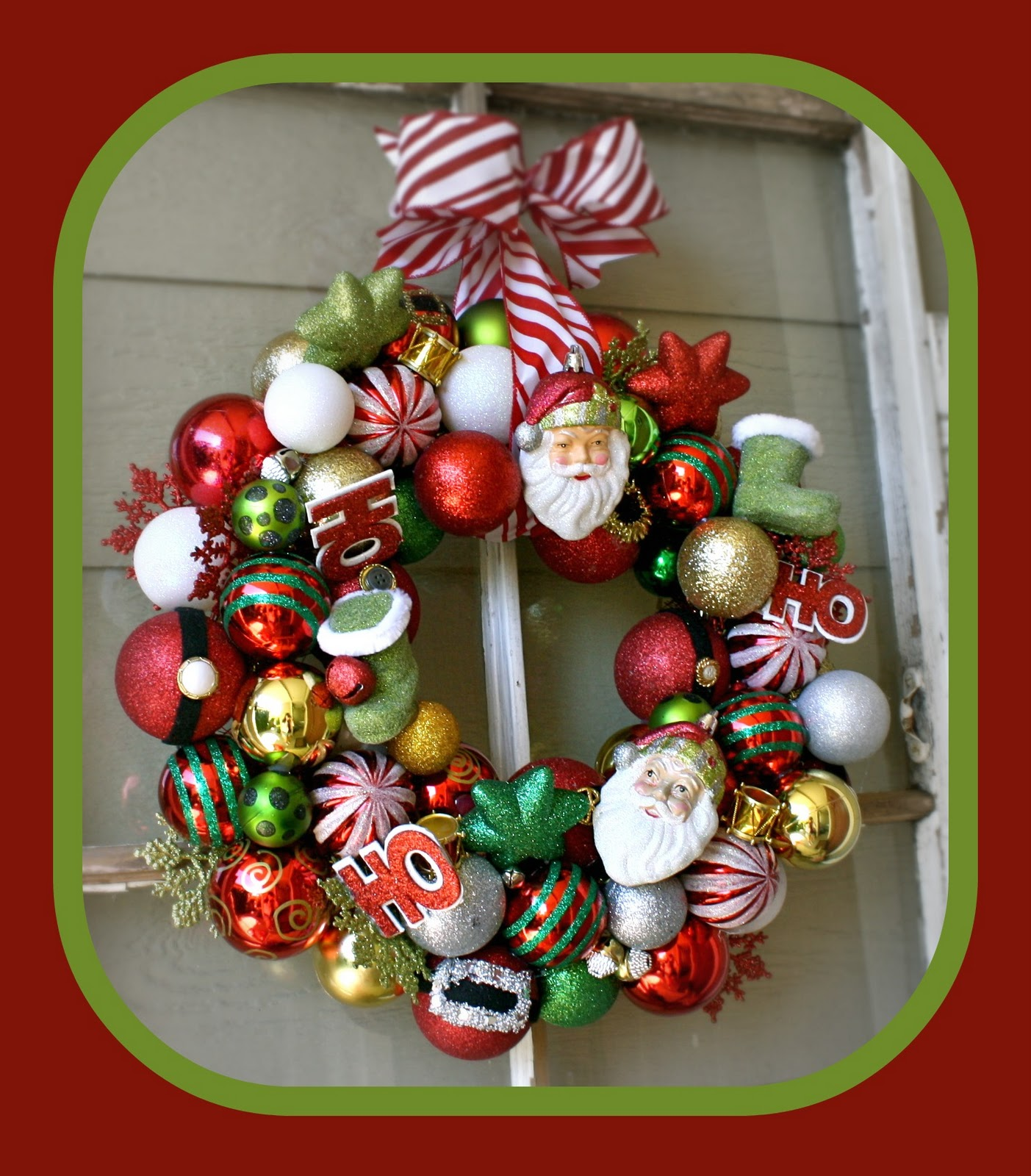 T recycled christmas bulb ornament wreath i just envision myself at the target after christmas sale its become a tradition of mine the last couple of years this year i concentrated just bulbs solutioingenieria Choice Image