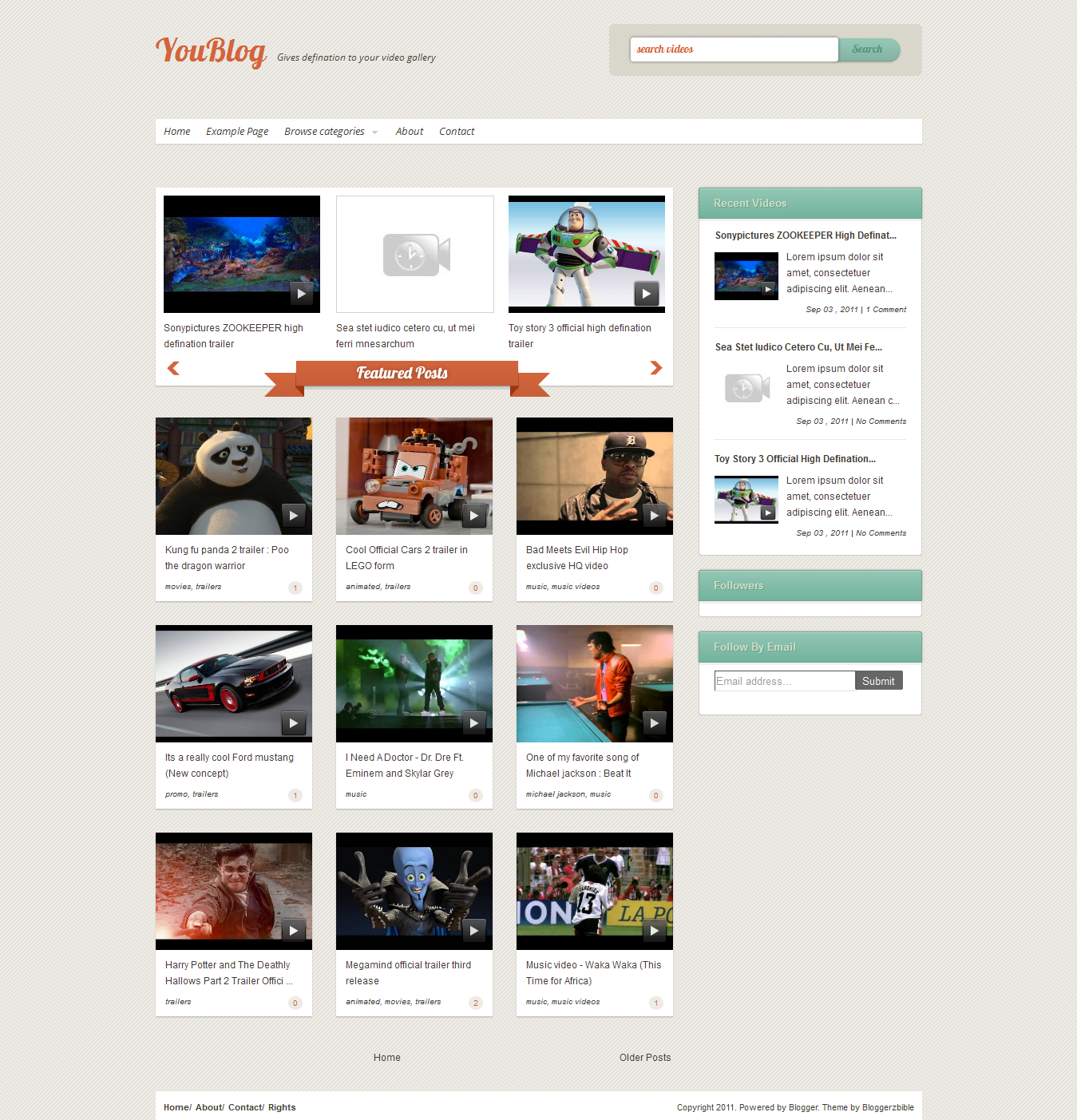 Youblog Video Blogger Template