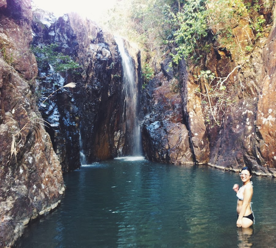 swimming in Tai Tam waterfall Hong Kong