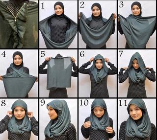 Cara Memakai Jilbab Modern Terbaru