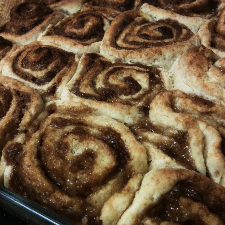 No-Yeast Cinnamon Rolls! #recipe