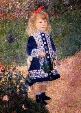 "Picture of ""A Girl With a Watering Can"" by Renoir, 1876"