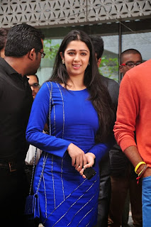 Actress Charmi Kaur Latest Pictures in Short Dress with R Rajkumar Movie Team at Yes Mart 0002