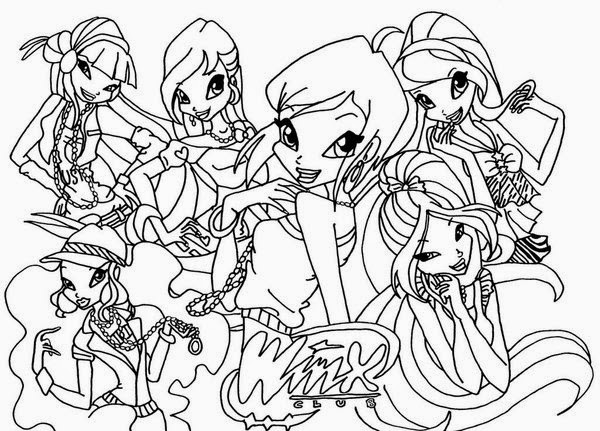 Free Coloring Activity With Winx Club Coloring Pages New Coloring