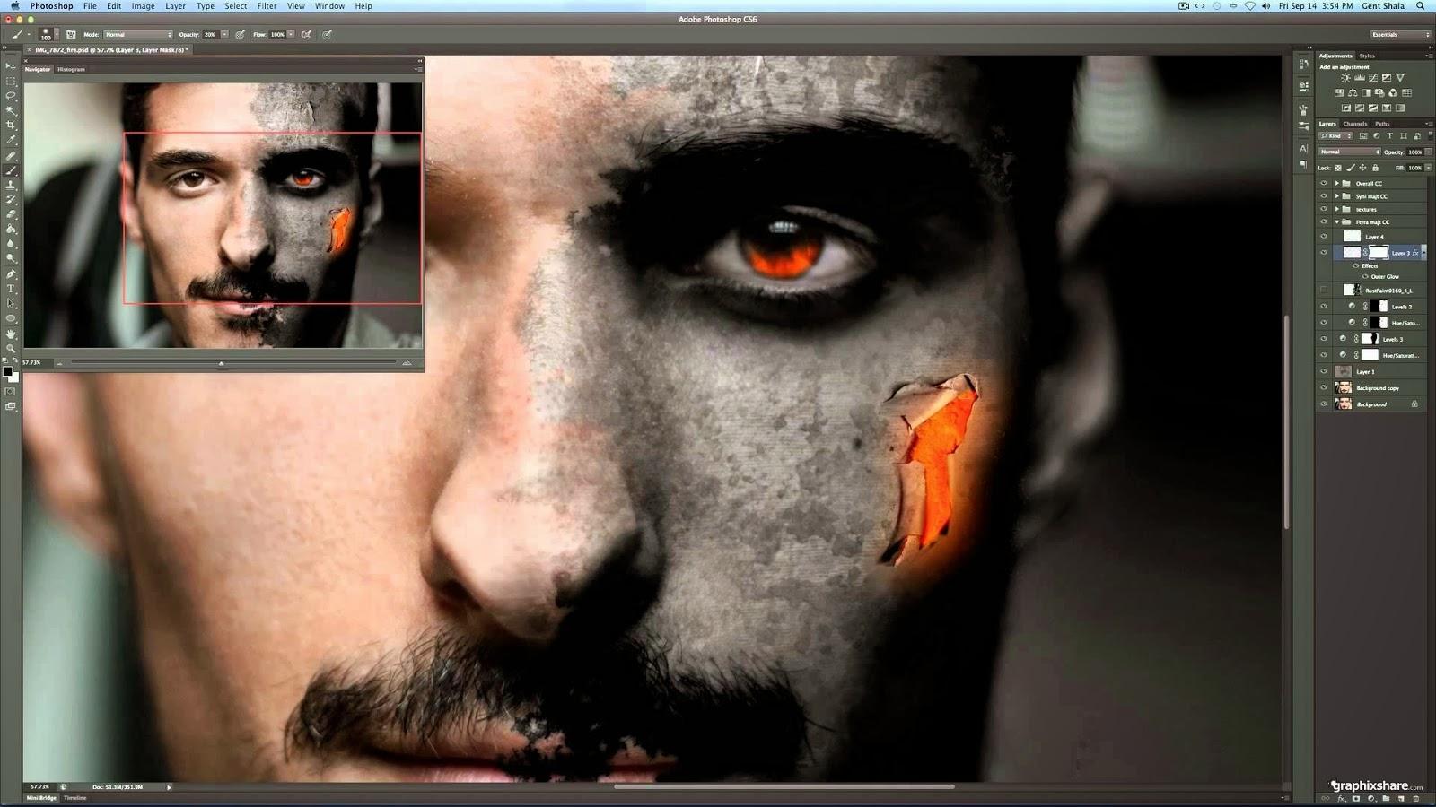 Как сделать красные глаза вшопе cs6 как у вампира