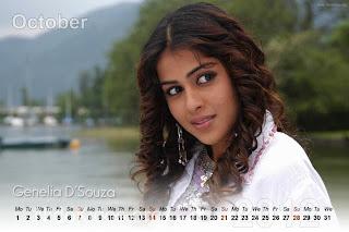 Genelia 2012 Calendar Must See Cuteness
